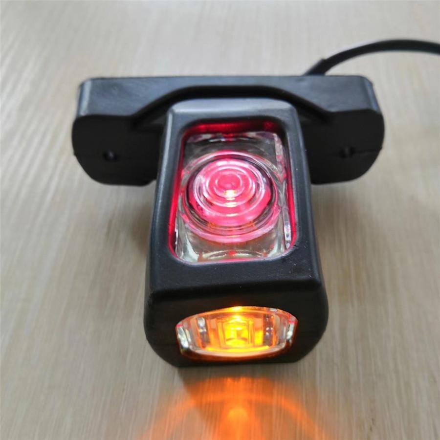 Pair 12V Car Truck Trailer 4LED Red White Amber Side Marker Outline LED Light US