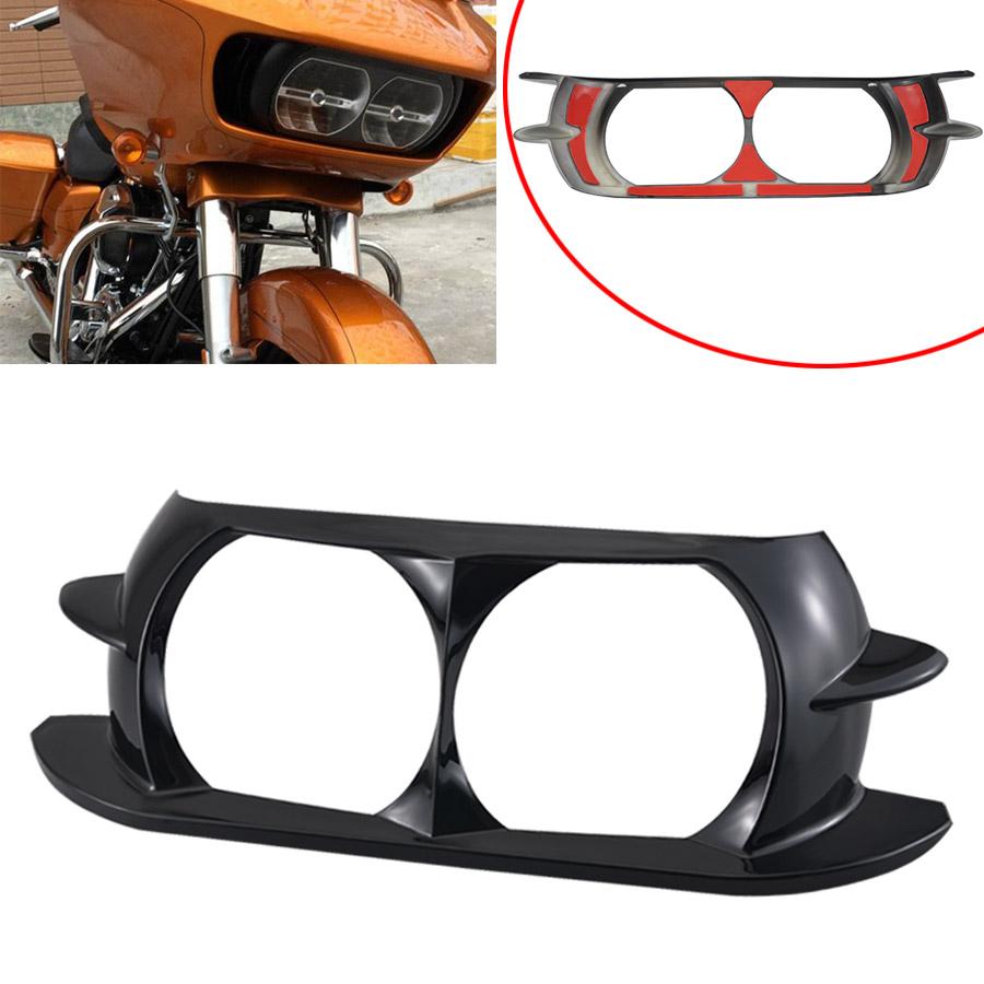 Chrome Headlight Bezel Scowl Outer Fairing Cover For Harley Road Glide 2015-2018