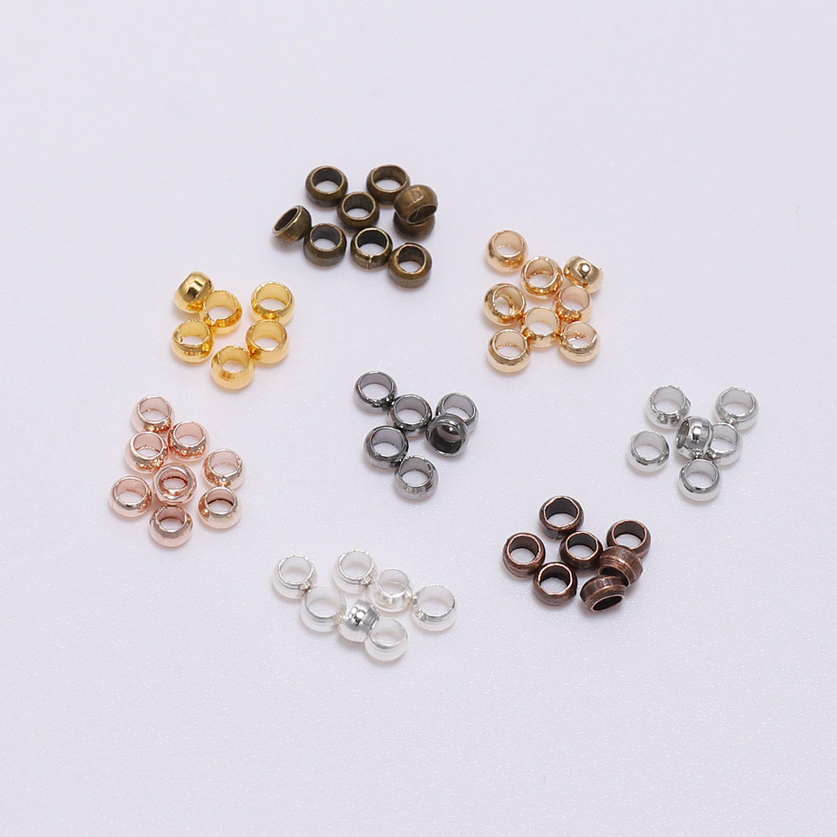 Silver//Pink Rhodium Plated Alloy Large Hole Beads 6 x 11mm 10 Pcs DIY Jewellery