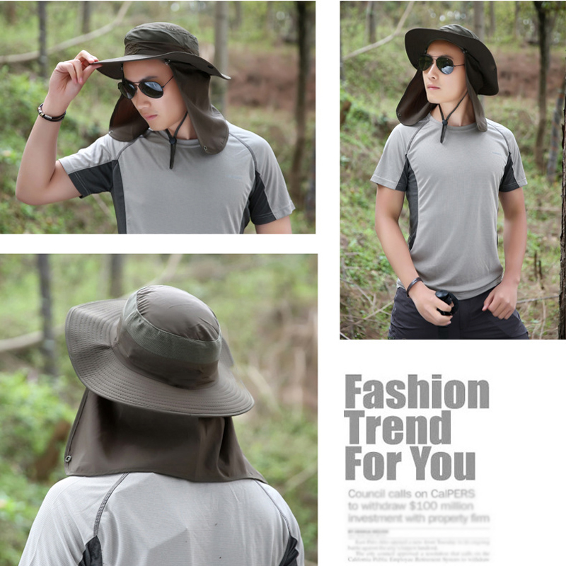 Fishing Hiking Hat Outdoor Sport UV Sun Protection Neck Face Flap ... 6589fc92ee8