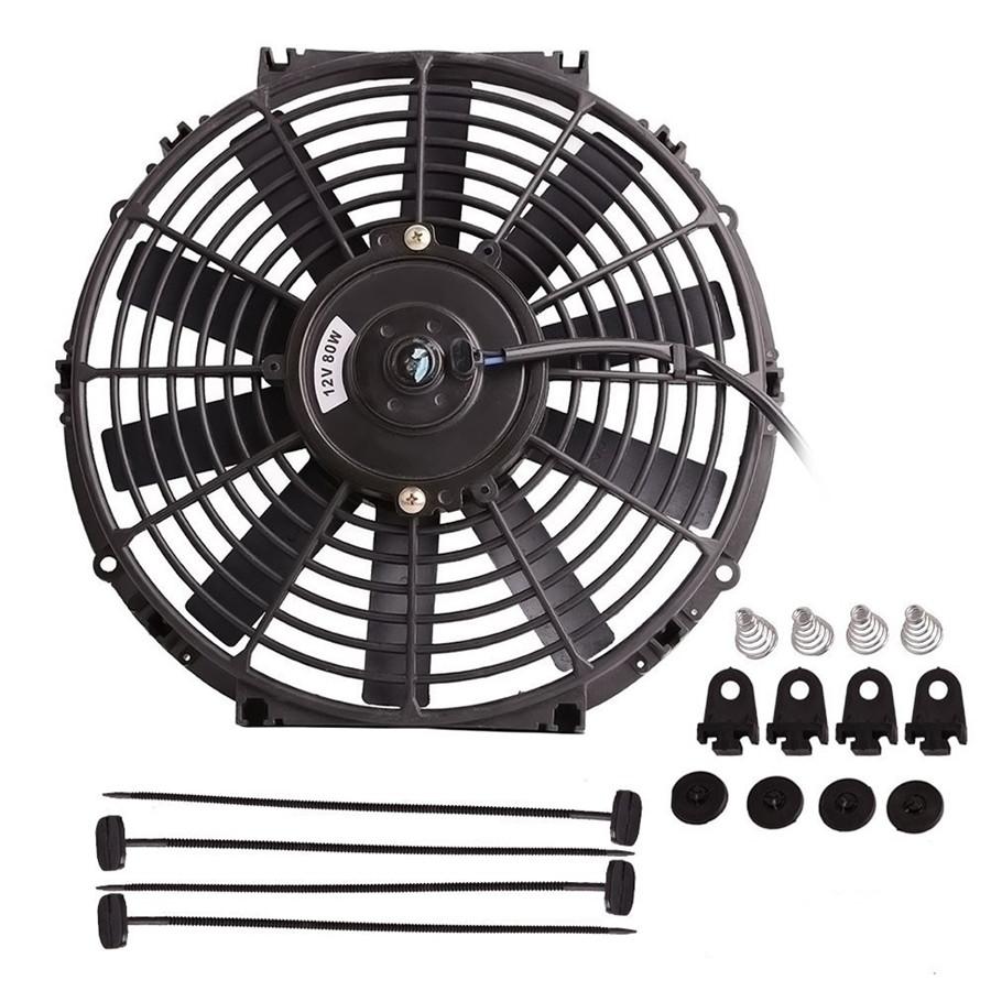 Universal 12 U0026quot 12v 80w Car Electric Radiator Plastic Cooling