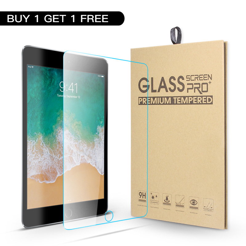 2 X Tempered Glass Screen Protector for iPad 2 3 4 5th 6th Air Mini 7.9 Pro 9.7