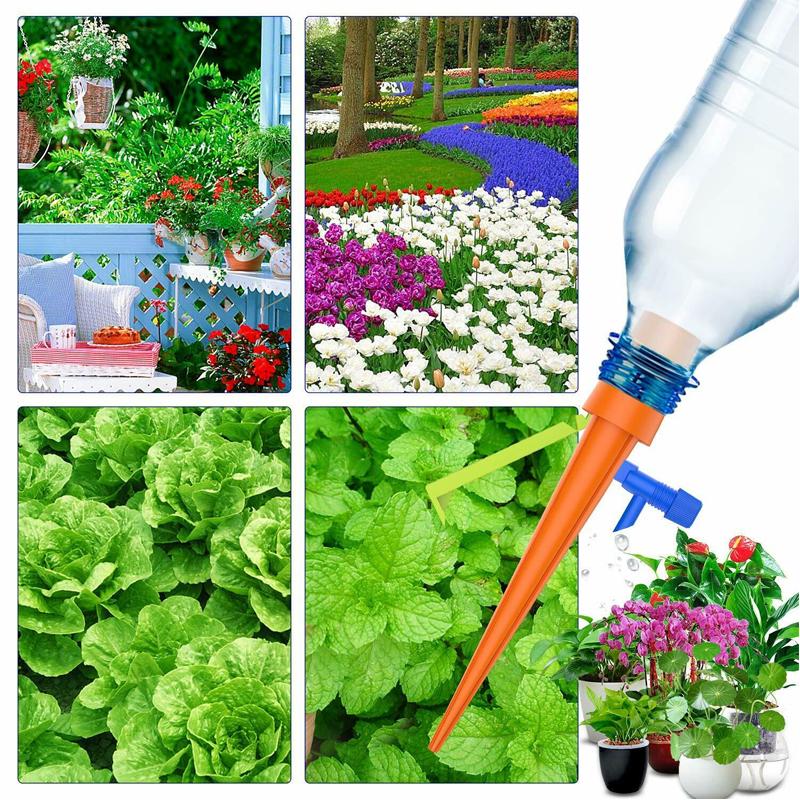 12×Bewässerungs Urlaubsbewässerung Einstellbar Automatische Pflanzen Tropfsystem