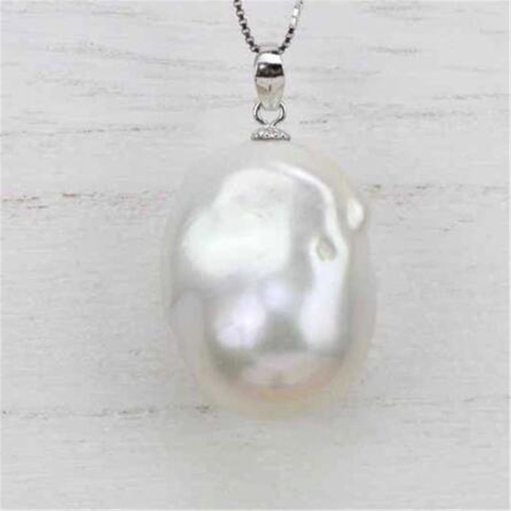 15-16MM Pink Freshwater Petal Baroque Pearl Pendant holiday accessories charm