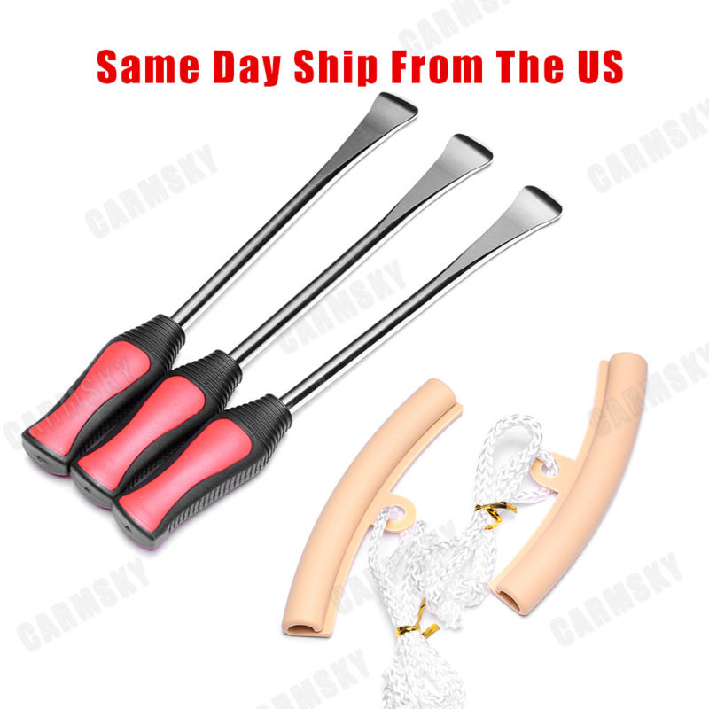 Bike Tire Levers 7 pcs Premium Bicycle Tire Lever Tyre Spoon Iron Changing Tool