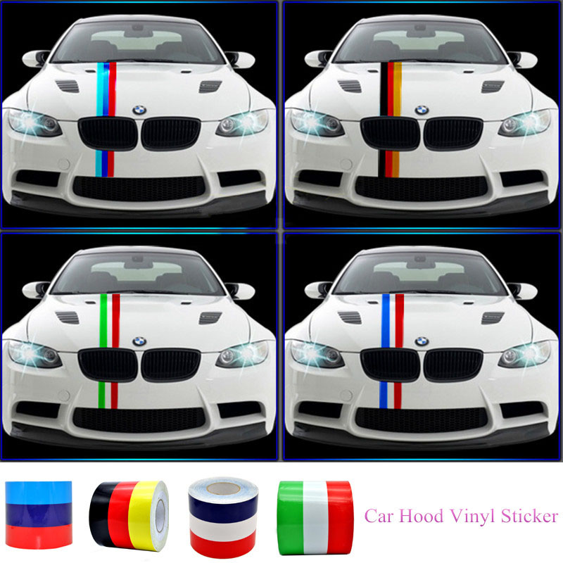 Diy colored striped vinyl car sticker decal germany italy french flag car body