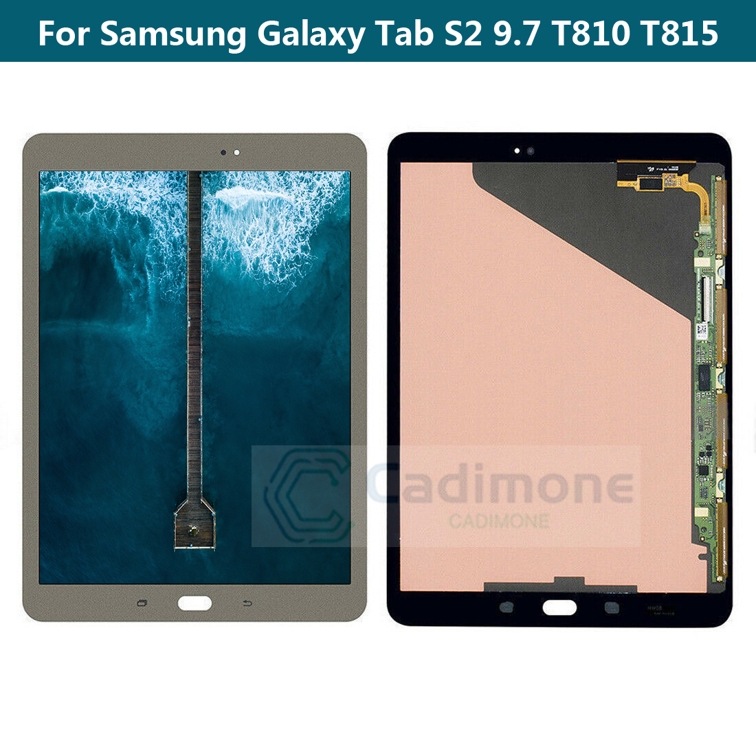 New For Samsung Galaxy Tab S 10.5 SM-T800-T805  LCD Display Touch ScreenBronze