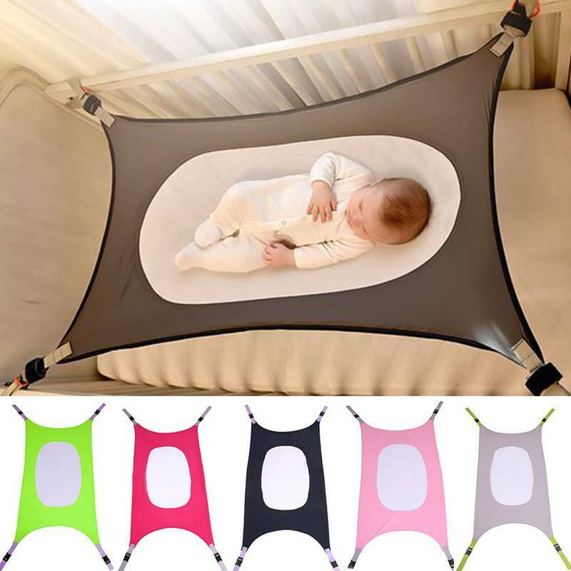PITCHBLA Baby Hammock for Crib Pure/Cotton Baby Hammock Swing Detachable Portable Better Sleep Hanging Swing Bed Frame Accessories for 3 Months-6 Years Old