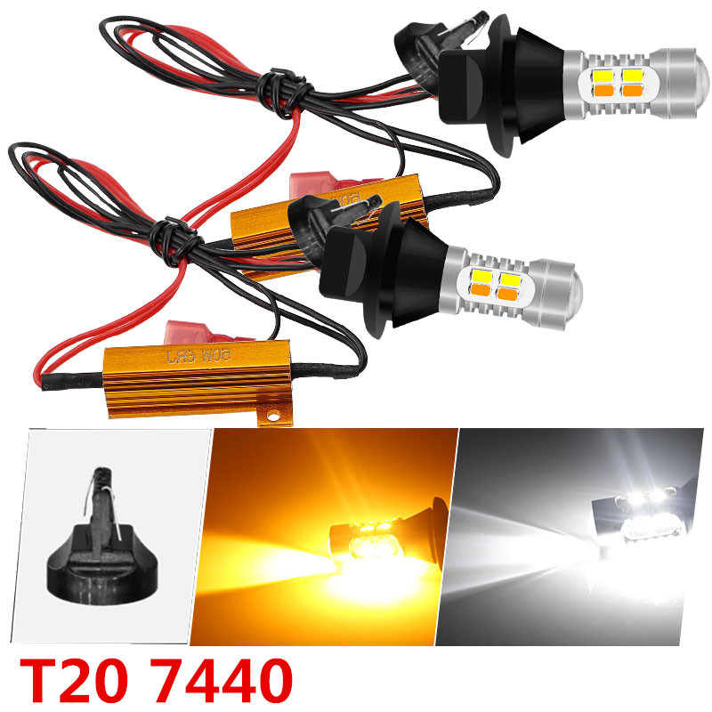 2X 1157 LED 5630 20smd 20w Hyper Cool White CANBUS