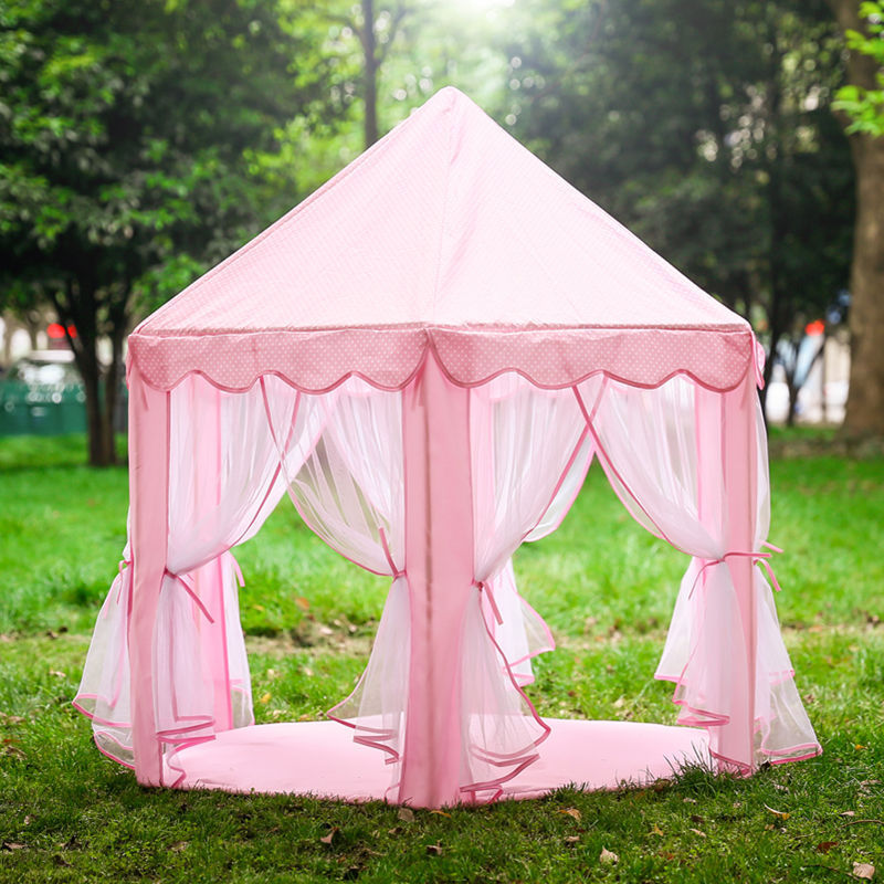 Only tents no lights 1. Large Girl princess castle playing house bring kids with unlimited joy ) 2. Tent size  L140cm * H135 cm 3. Cute pink color ... & Baby Girl Princess Castle Play Tent Playhouse Children Kids ...