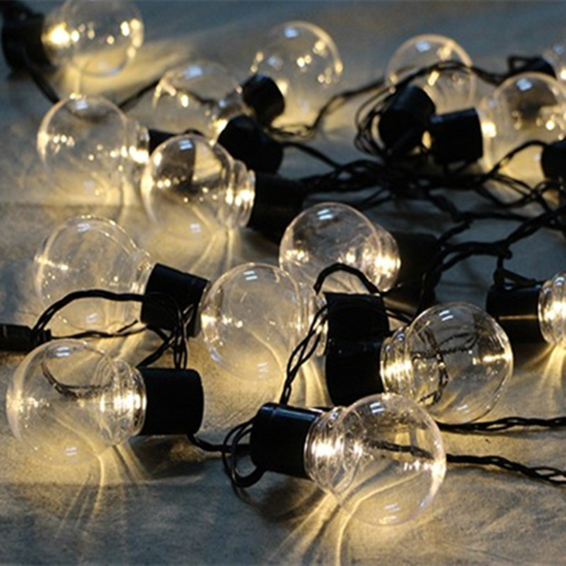 2.5m Globe Patio 10 LEDs String Lights garland G45 Clear Bulbs wedding eBay