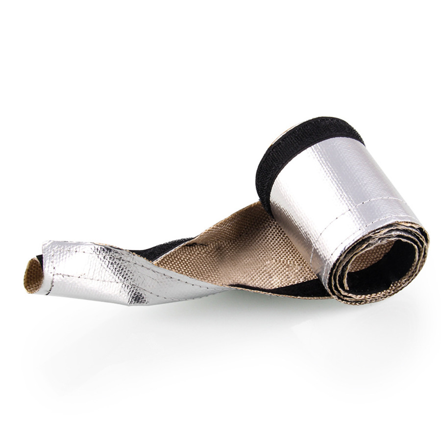 19x10cm Car Metallic Heat Shield Sleeve Insulated Wire Hose Cover 1949 Chevy Wiring Harness Wrap Loom Tube