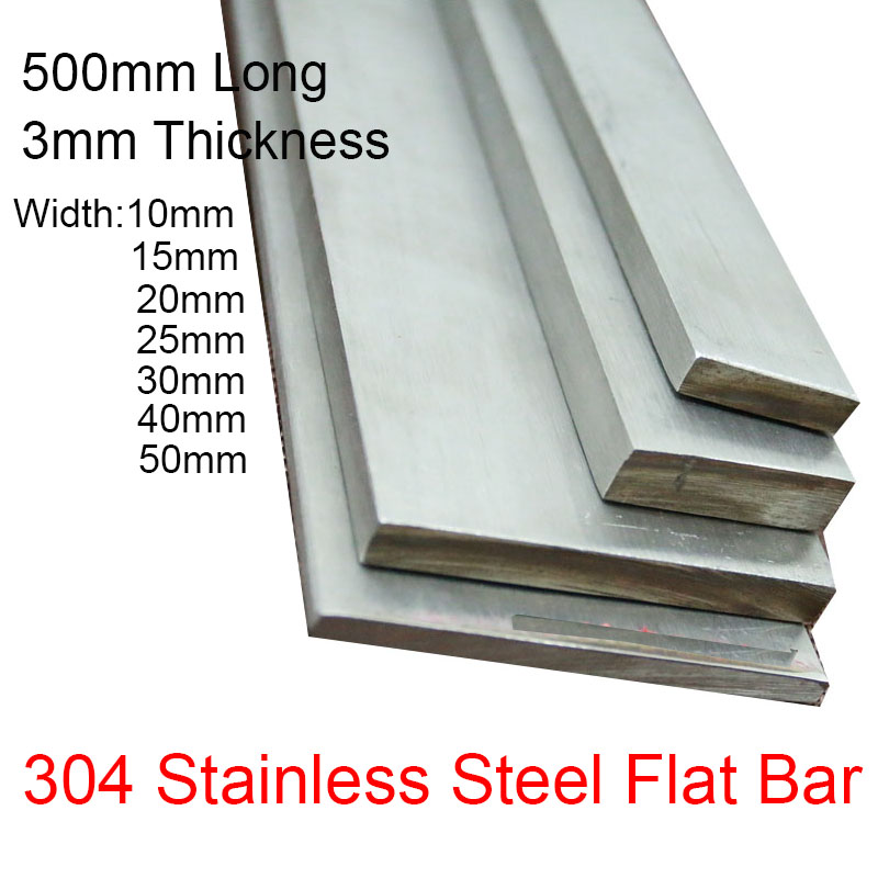 """1//2/"""" x 4/"""" Stainless Steel Flat Bar Mill Stock 0.5/"""" 304 Plate 2/"""" Length"""