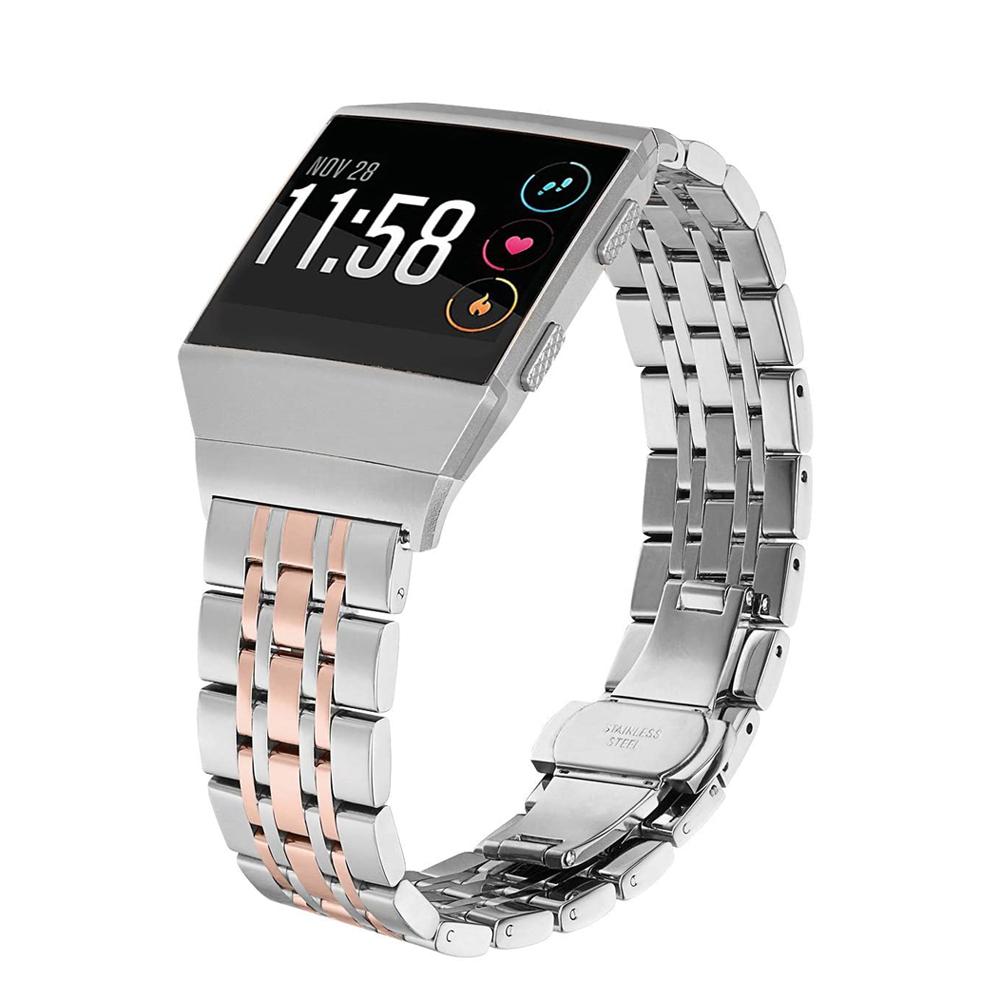 Edelstahl Uhrenarmband für Fitbit Ionic Armband Ersatzband Uhrenband Band Strap