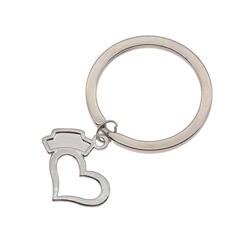 Schlüsselanhänger Schlüssel Ring Herz Krankenschwester Haube Anhänger Key Chain