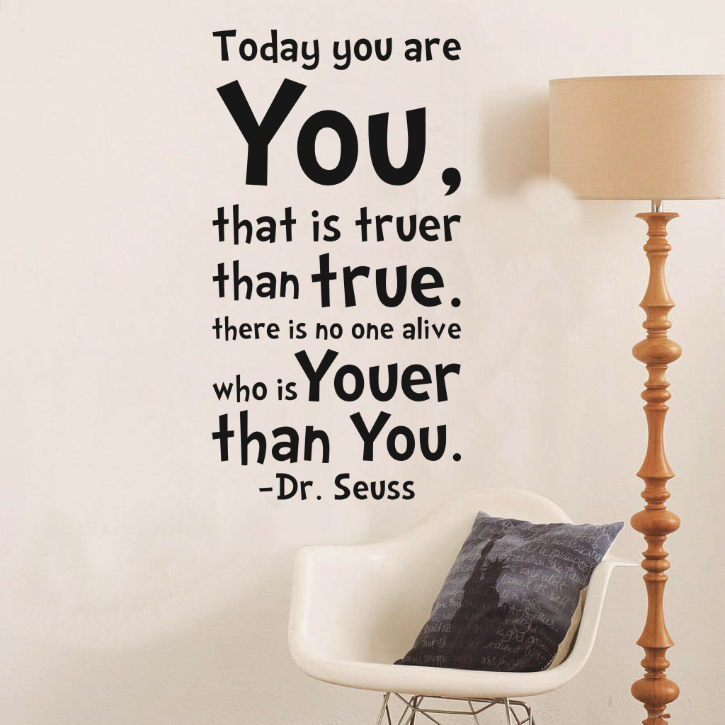Dr. Seuss Inspiration Quote Today You Are You Letters Wall Sticker Mural  Decals Part 81