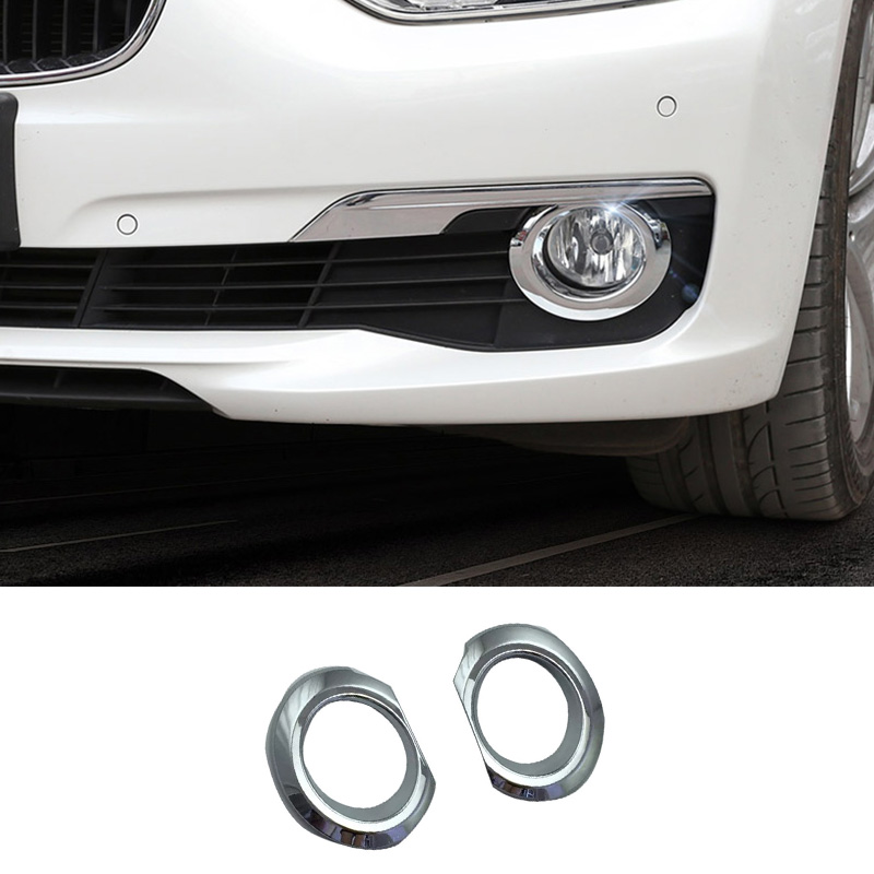 For BMW X1 F48 2016 2017 ABS Front Fog Light Lamp Eyelid Strips Cover Trim black