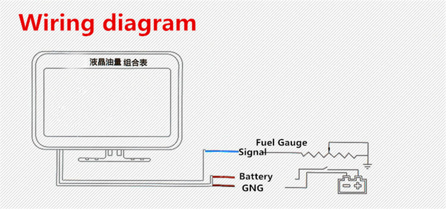 KFZ Flüssigkristall Anzeige 4 in 1 Voltmeter Kombinationsmesser Blinkender Alarm