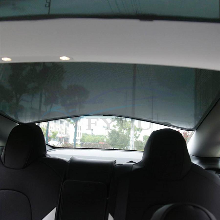 For Tesla Model 3 Rear Top Roof Skylight Glass Sunshade ...