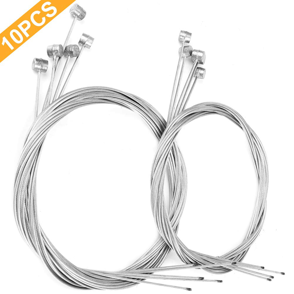 10pcs Bicycle Brake Line Bike Gear Cable Road Moutain Bike Core Inner Wire Line