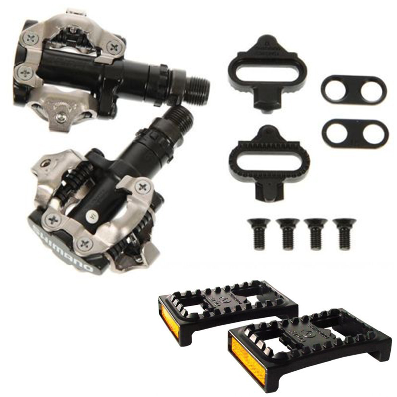SHIMANO Mountain Bike Pedals PD-M520 Cr Mo Axle Clipless Cleats Pedals Original