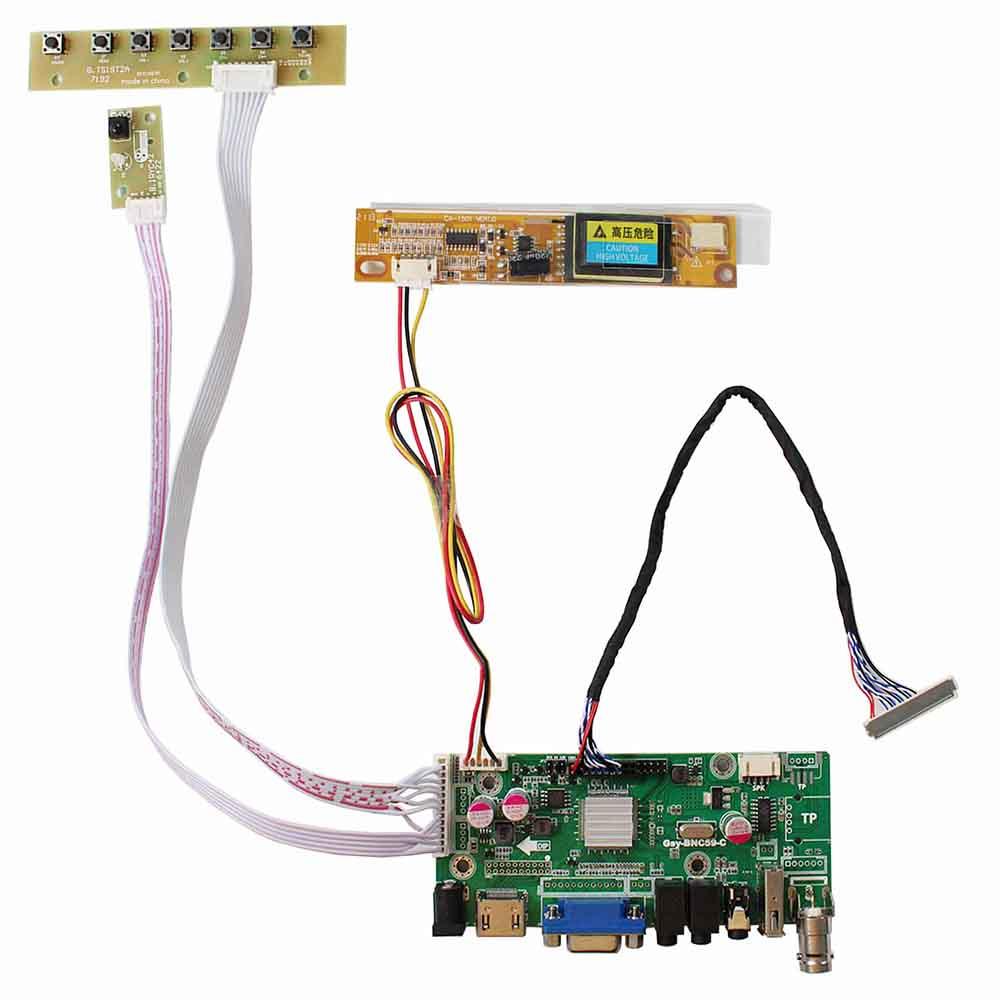 For LP150X09 BT141XG01 QD141X1LH12 1024x768 LCD VGA DTV USB AV HDMI Board