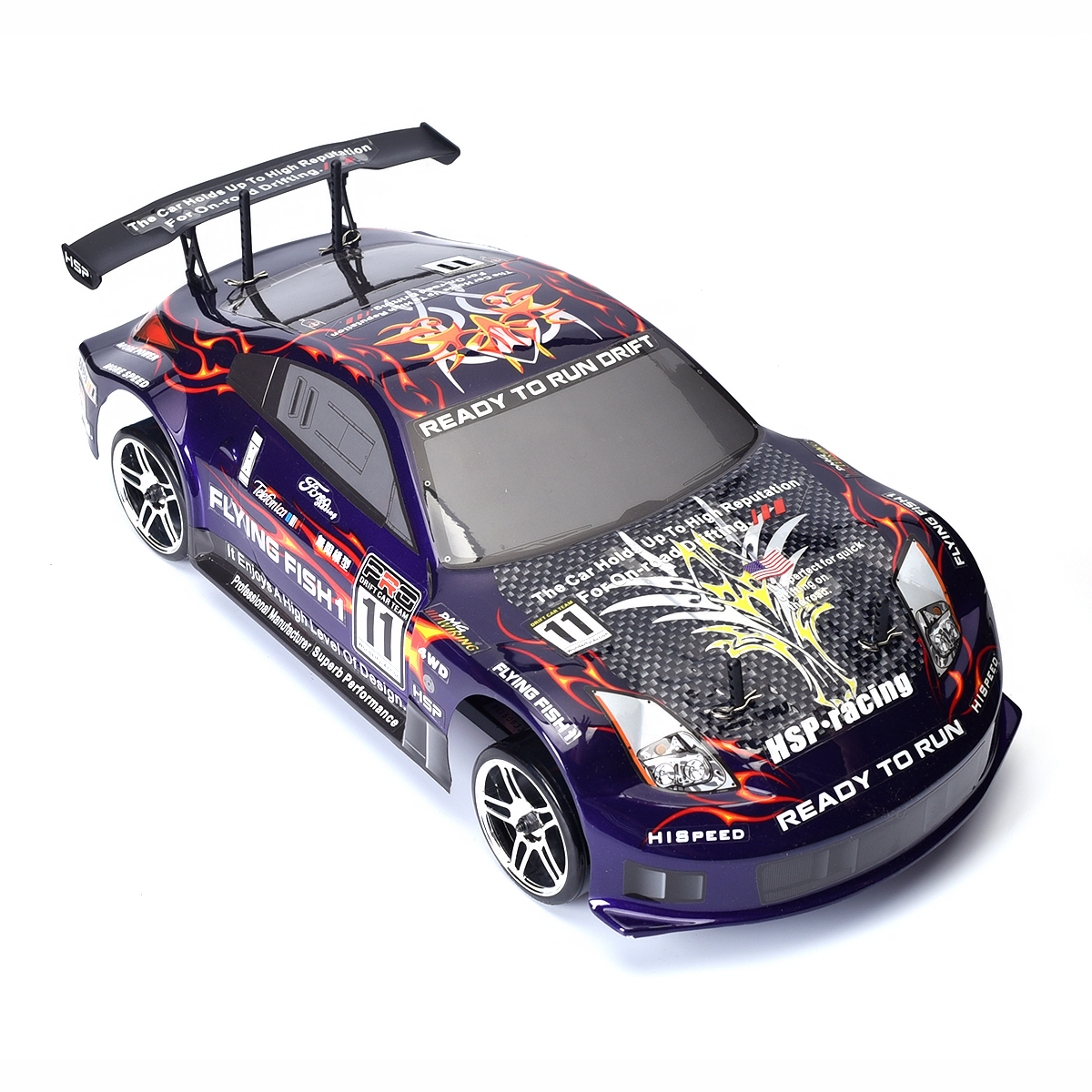 hsp high speed 94123 1 10 rc drift car 4wd electric flying fish drifting on road ebay. Black Bedroom Furniture Sets. Home Design Ideas