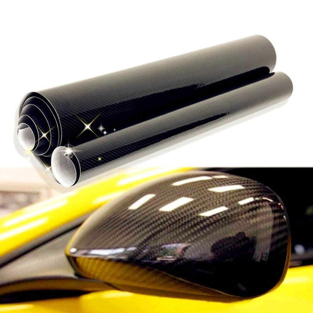 D Shiny Gloss Glossy Carbon Fiber Film Wrap Vinyl Decal Car Auto - Car decals designcheap carbon vinyl sticker buy quality carbon time directly from