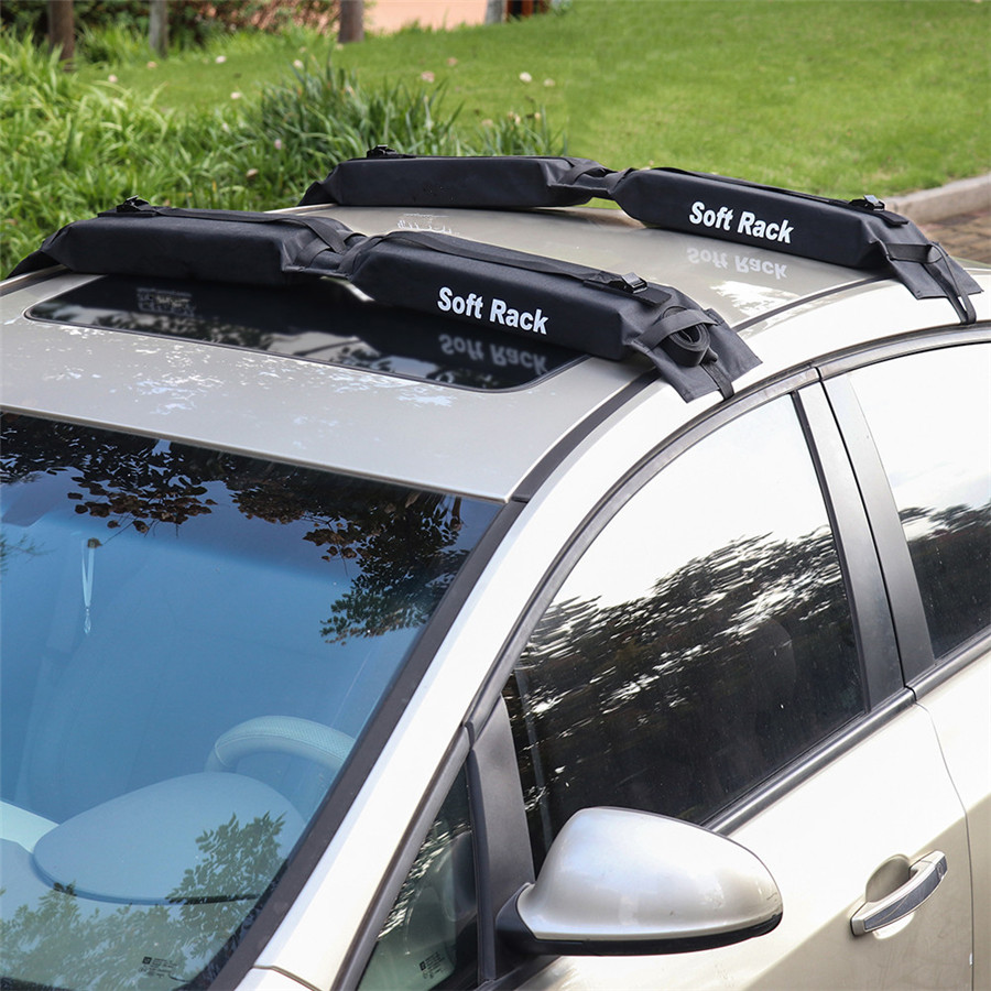 Suv Car Soft Roof Rack 2 Pcs Load 60kgs Foldable Surfboard