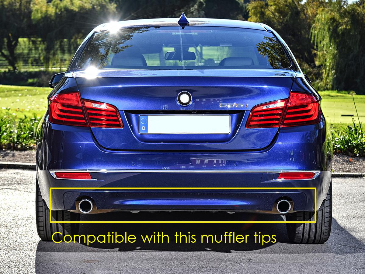 Black Exhaust Pipe Muffler Tip for BMW 5 Series 528i 530i 535d 535i F10 F18 et3