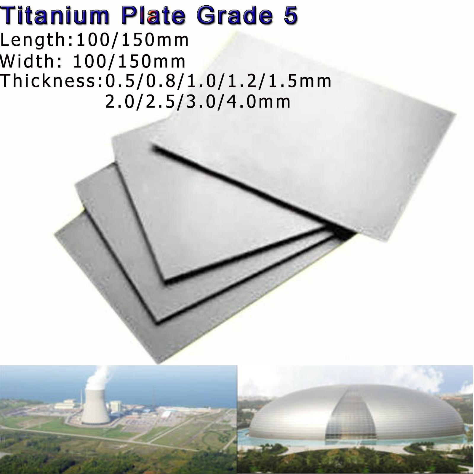 Titanium TC4//GR5 Sheet Ti Metal Plate Metalworking Panel Select 0.5mm-3mm thick