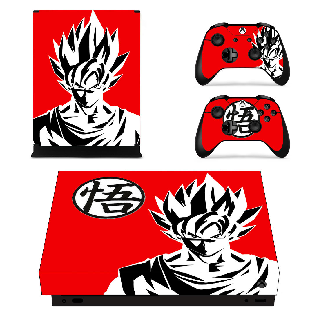 Details about dragon ball z design theme vinyl sticker for new xbox one x console controller