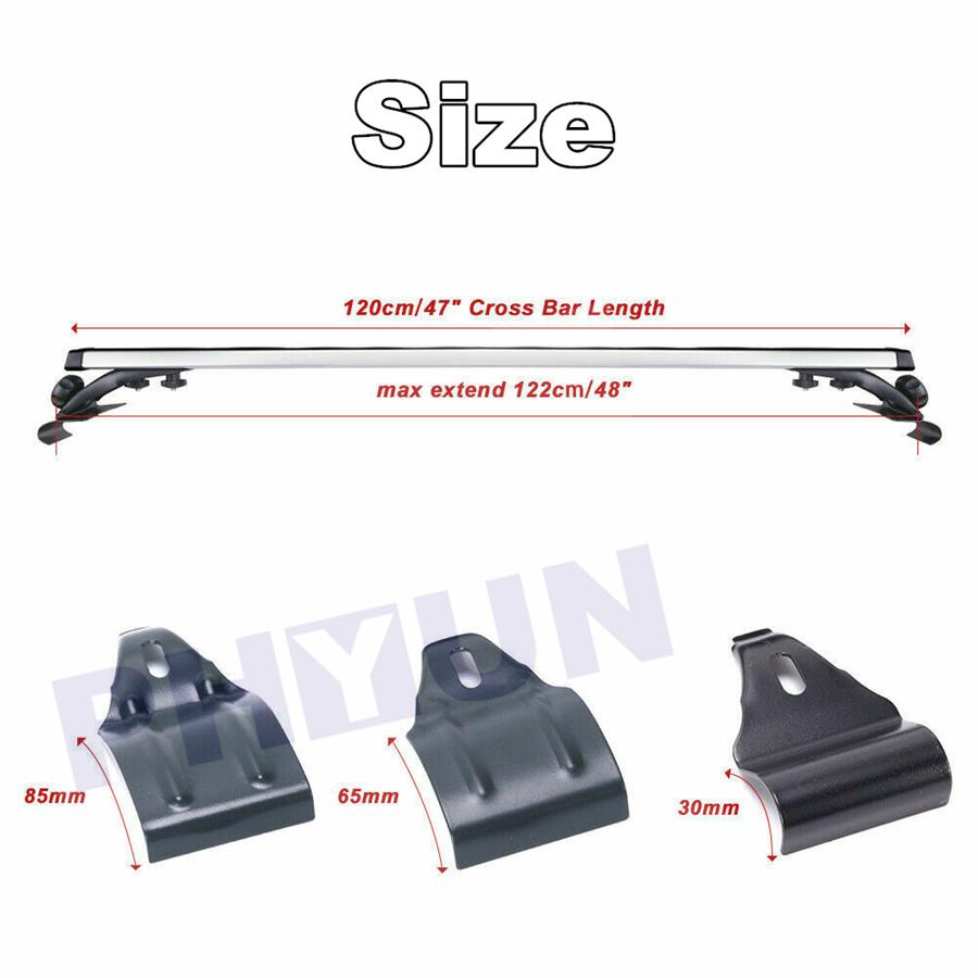 Universal Roof Rack Crossbars Roof Rail Cross Bar Cargo Carrier extendable/three types of Window Hooks for Sedan or SUV 52 Top Mount Cross Bar Carrier Utility Cargo Bars Luggage Set 30mm//65mm//85mm