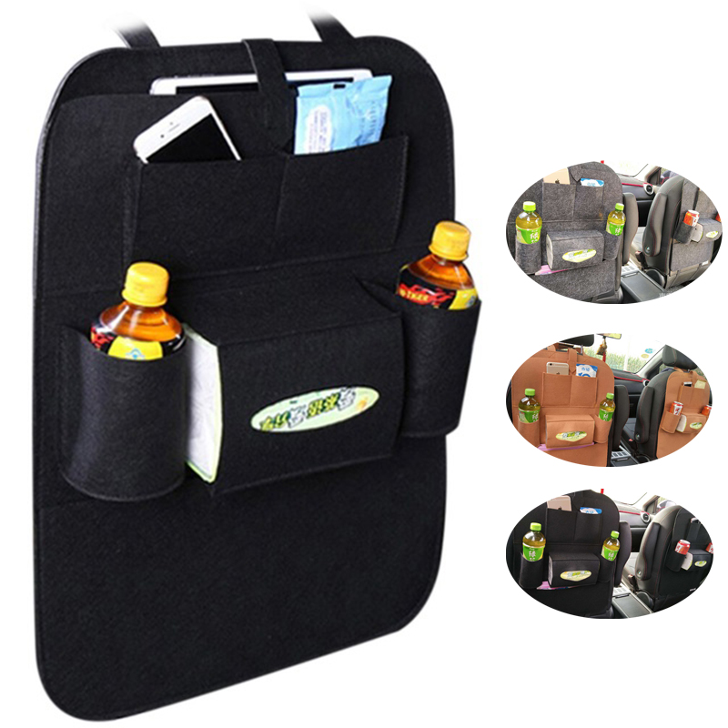 Car Seat Back Bag Storage Multi Pocket Organizer Bag Protector For Kids Kick Mat