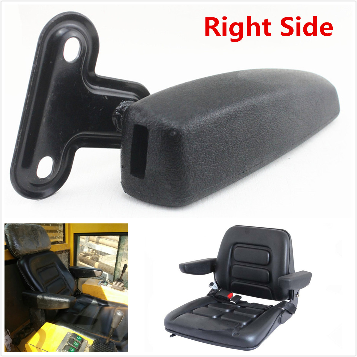 1 Pcs Comfortable Black PU Leather Left Side Autos Interior Armrest Arm Rest Kit