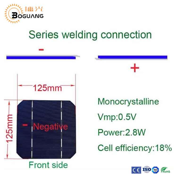 45pcs 120w Solarzellen 125 125mm Mono Solar Cells For