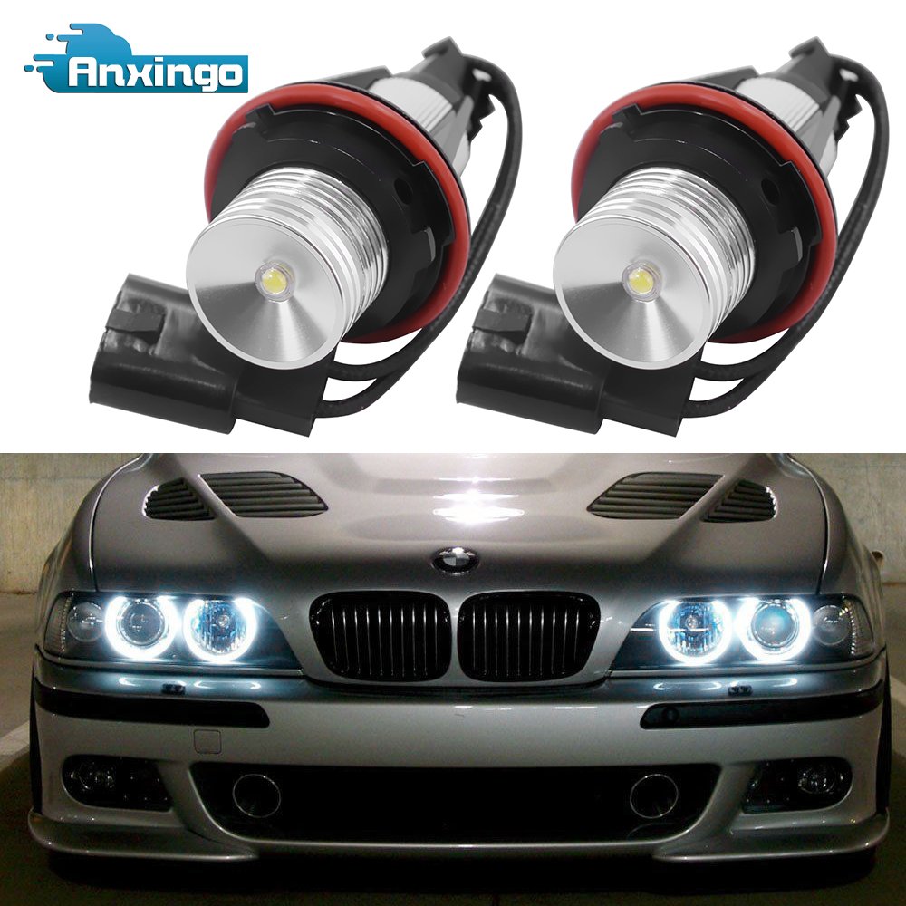For BMW 5 Series E39 White 4-LED Xenon Bright ICE Side Light Bulbs Pair