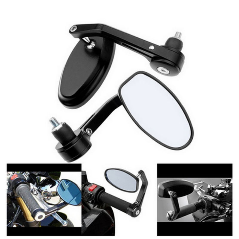 Pair Universal Motorcycle 22mm 7 8 Bar End Rearview Mirrors Motorbike Bikes Uk