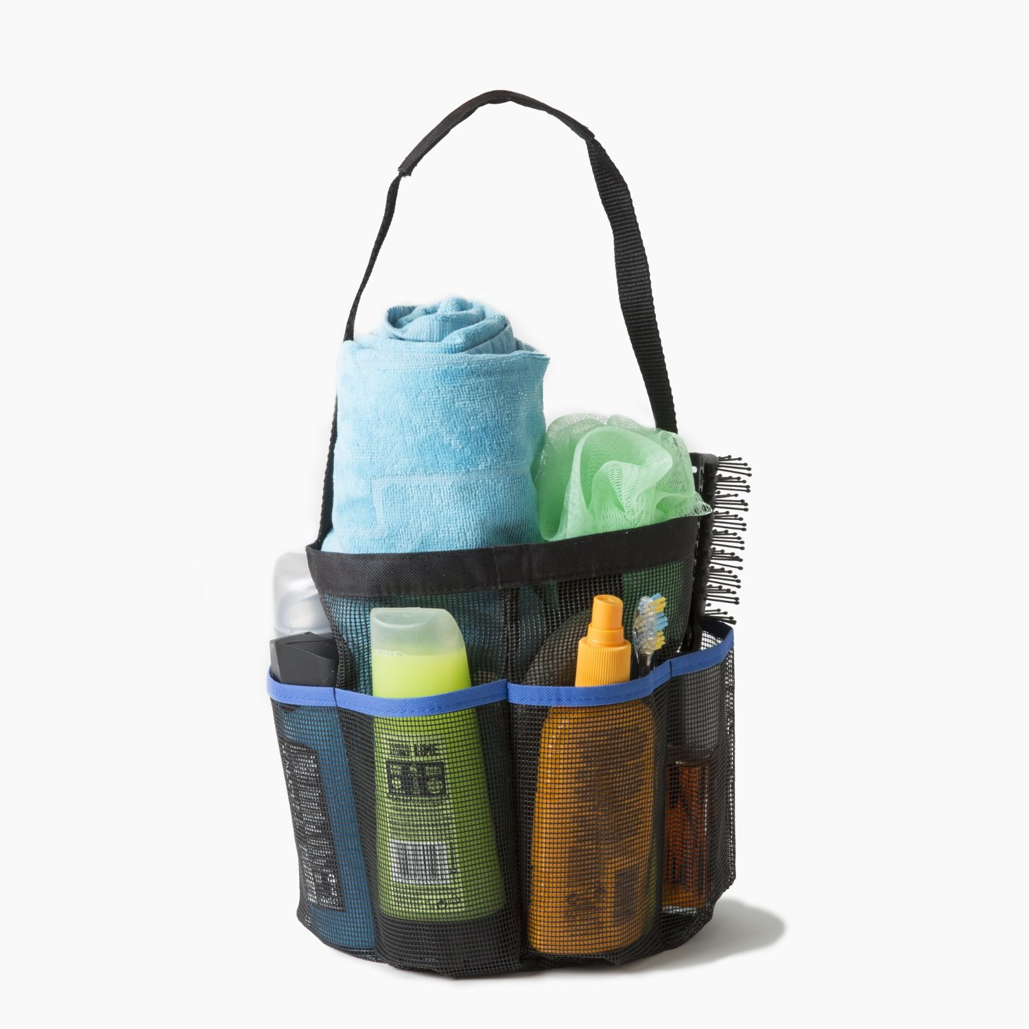 Portable Collapsible Shower Tote with 9 Pocket Storage Caddy Bath ...