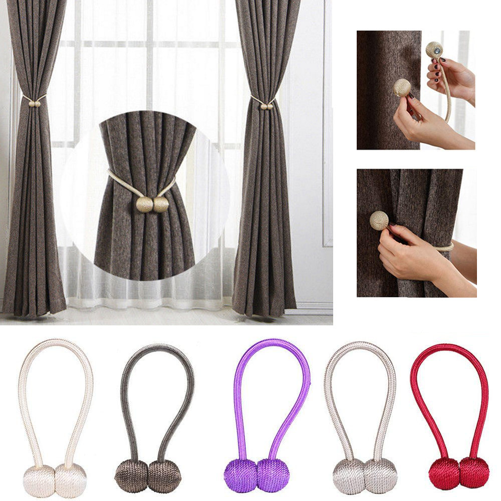 Pratical Accessories Magnetic Curtain Tieback Buckle Holder Window Strap Magnet