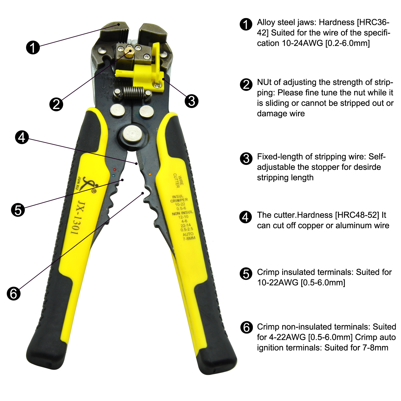 Automatic Cable Wire Stripper Tool Electrical Crimper Stripping ...