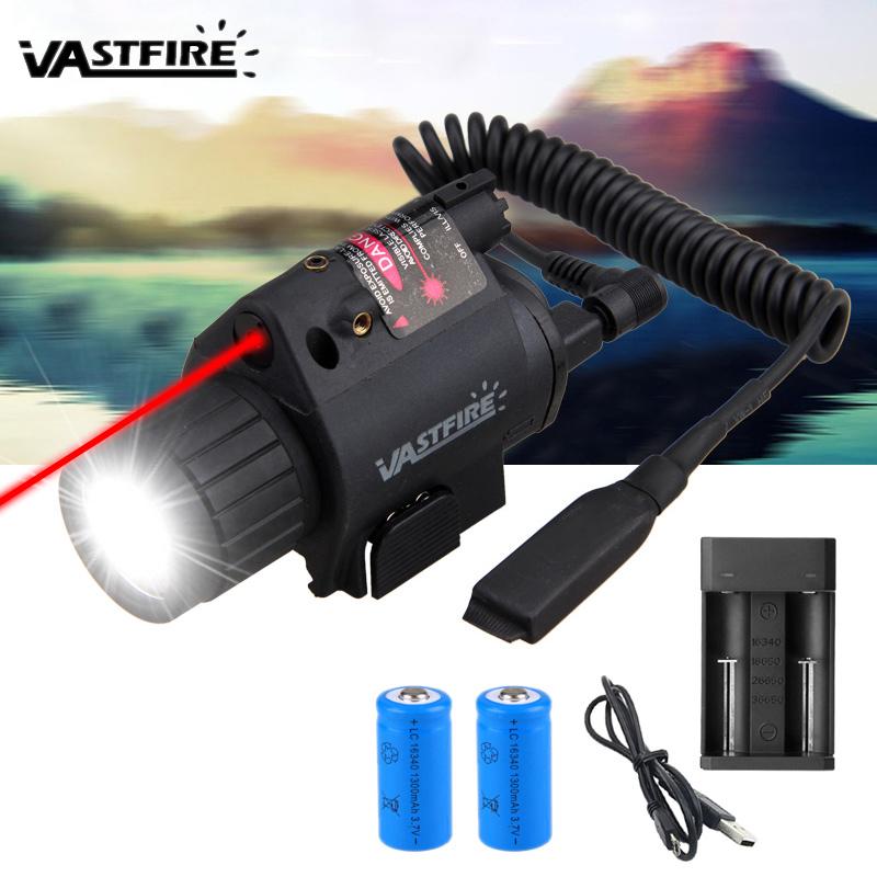Linterna táctica Combo Iluminador láser Rojo Visor de láser Alcance