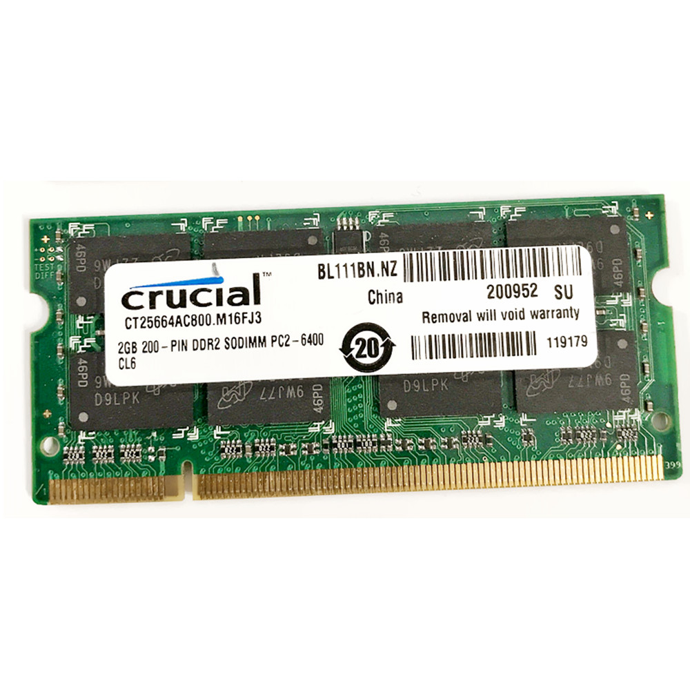 Crucial 2GB 4GB 8GB PC2-6400S DDR2-800MHz 200pin 1.8V Sodimm Laptop Notebook RAM