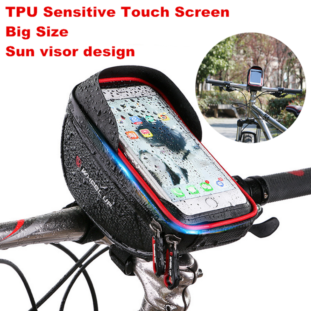 Bicycle Motorcycle Bike Phone GPS Waterproof Case Bag Holder Mount Touch
