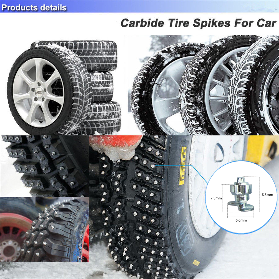 50PcWheel Tyres Snow Chains Studs For