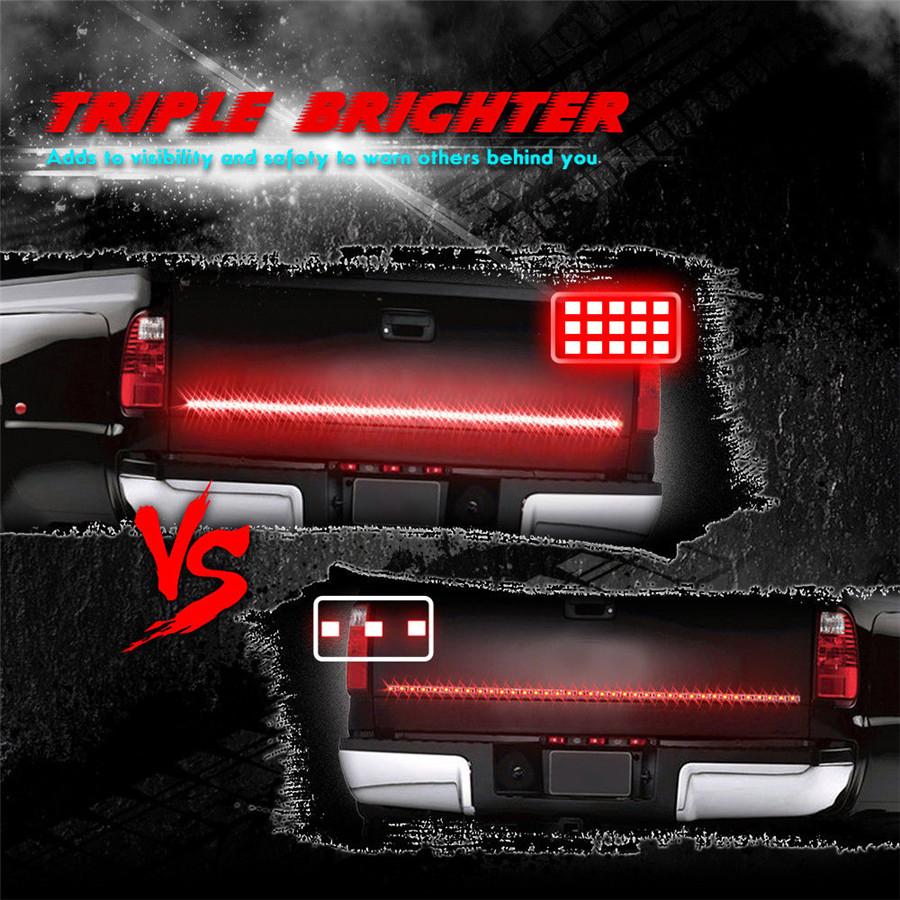 "60/"" Triple Row Pickup LED Tailgate Light Bar Brake//DRL//Reverse Lights Waterproof"