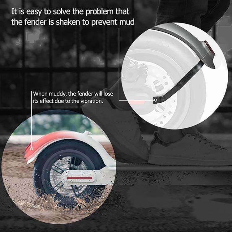 11 Stück Roller hinterer Kotflügel Halter Kit für Upgrade 10 /'/' Rad für Xiaomi