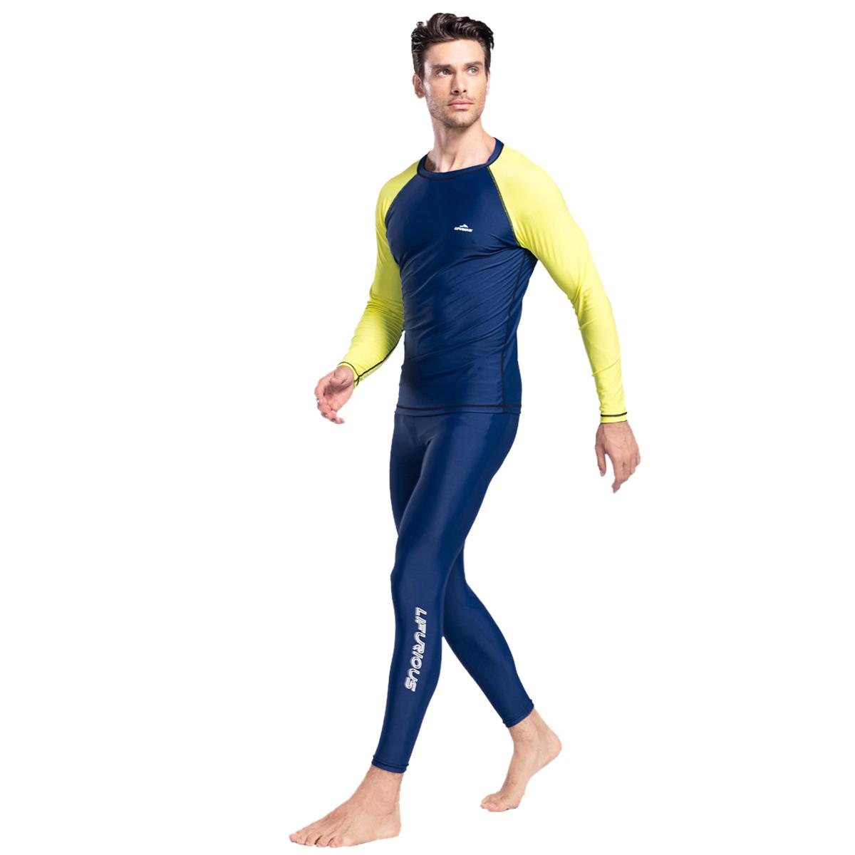 0f8b219810 Details about Men s Diving Suit Rash Guards Scuba Wetsuit Surf Swimming  Jumpsuit Top   Pants