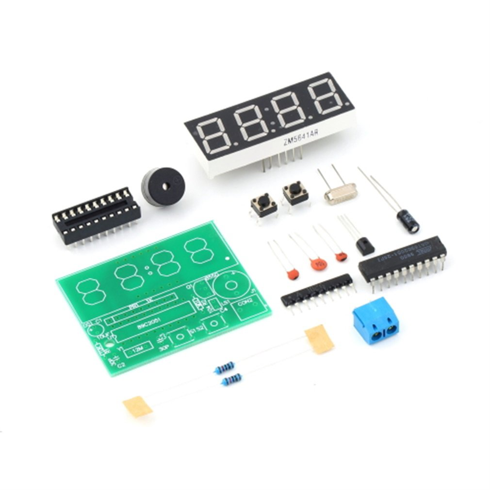 Diy Kit Led Electronic Clock Microcontroller Digital Time Circuit Features Seconds Correction For Precise School Switch To Every Minute Independent Display Interface Whole Point Of 8 20 Oclock Chime Can Be