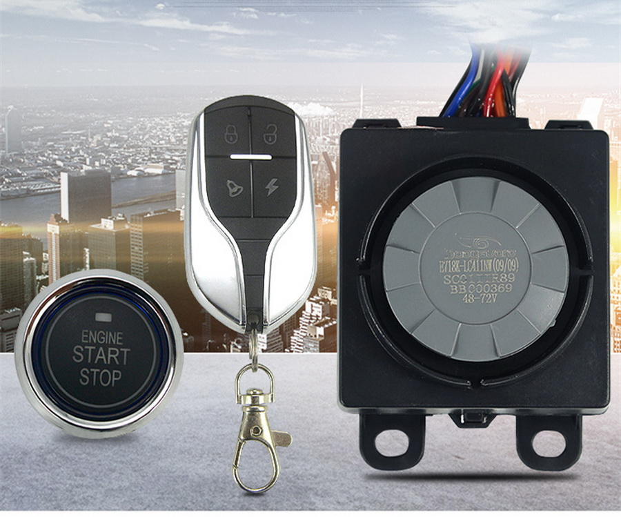 Motorcycle Anti-theft alarm kit with keyless remote control GPS Double alarm New